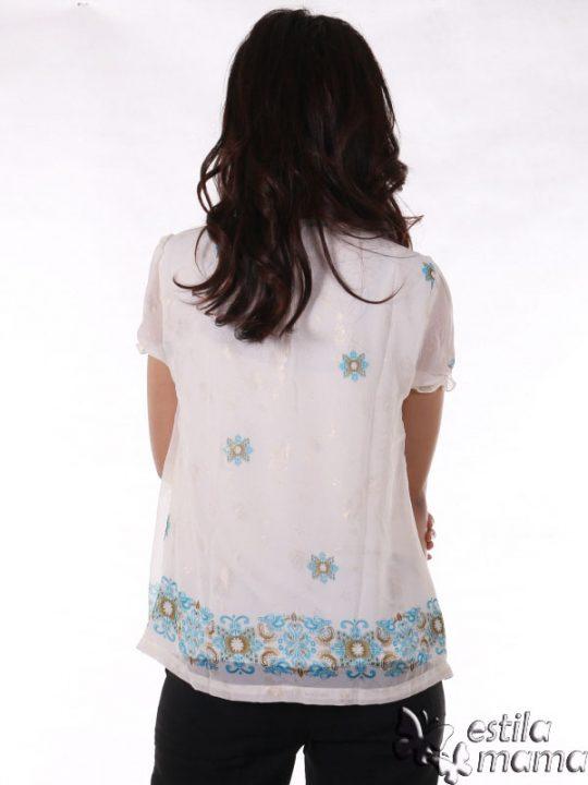 R24126 biru gb4 baju hamil menyusui lgn pdk