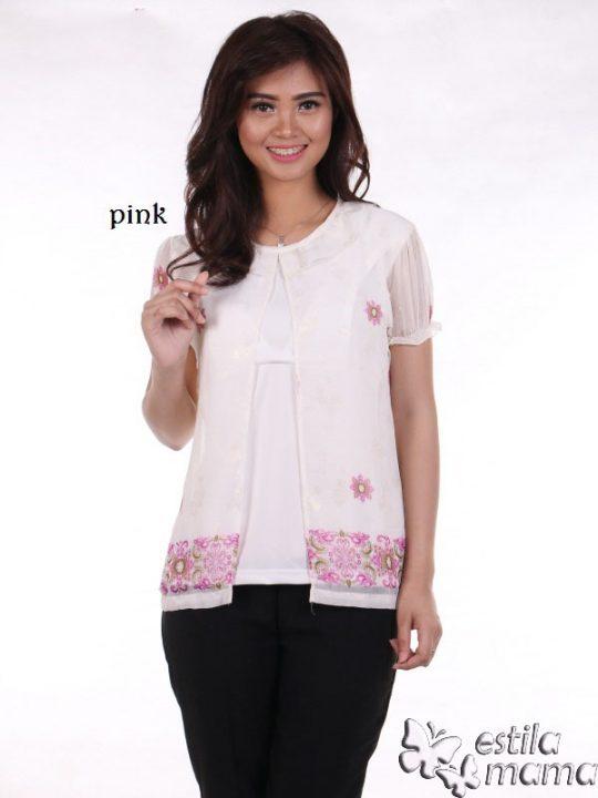 R24126 pink gb1 baju hamil menyusui lgn pdk