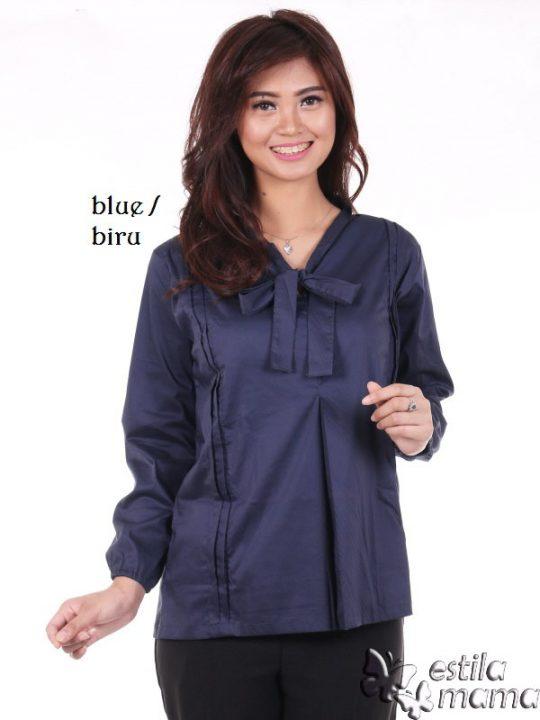 R2596 biru gb1 baju hamil menyusuil lgn pjg