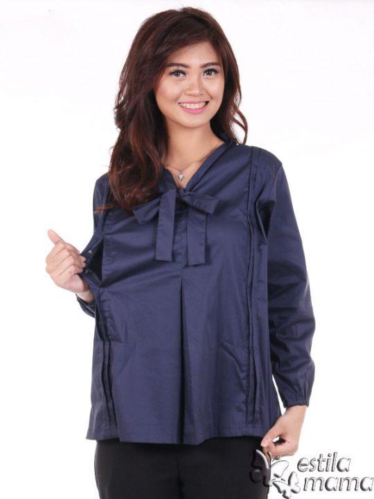 R2596 biru gb3 baju hamil menyusuil lgn pjg