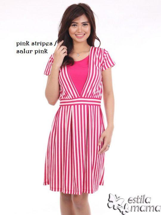 R34161 salur pink gb1 dress hamil menyusui lgn pdk