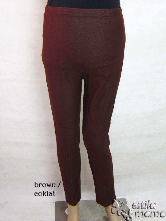 M8729 gb1 legging hamil pjg coklat