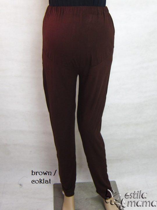 M8731 gb6 legging hamil pjg coklat