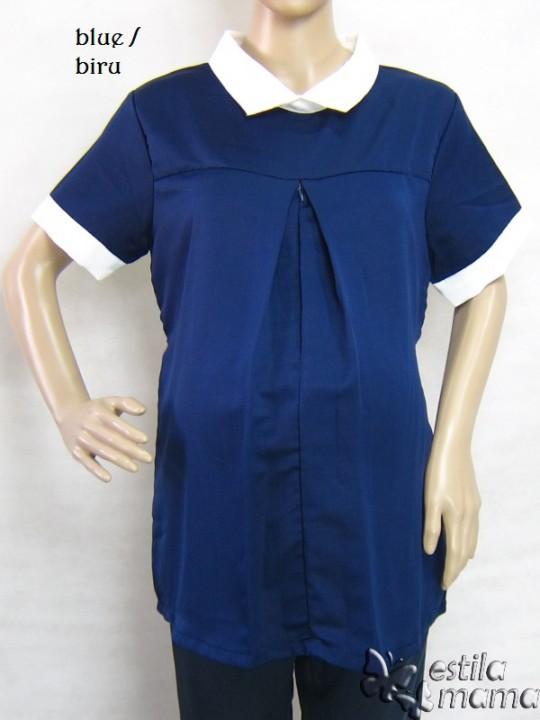 R24147gb1 baju hamil menyusui lgn pdk biru