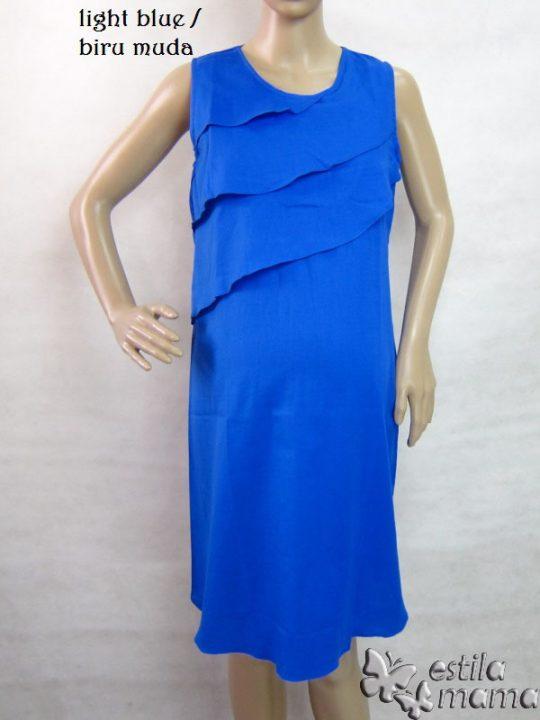 R3317 gb5 dress hamil menyusui tnp lgn biru muda