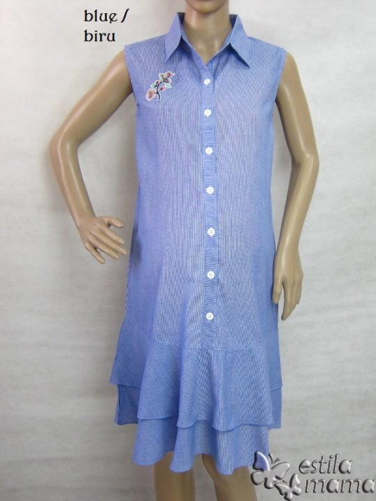 M3337 gb6 dress hamil tnp lgn biru