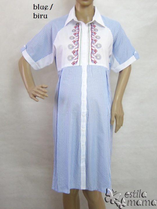 M36154 gb5 dress hamil lgn pdk biru
