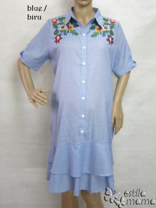 M36155 gb5 dress hamil lgn pdk biru
