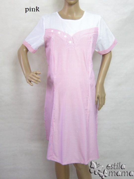R34183 gb1 dress hamil menyusui lgn pdk pink