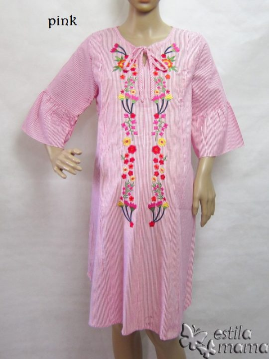 R34184 gb1 dress hamil menyusui lgn pdk pink