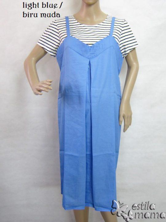 R34195 gb1 dress hamil menyusui lgn pdk biru muda