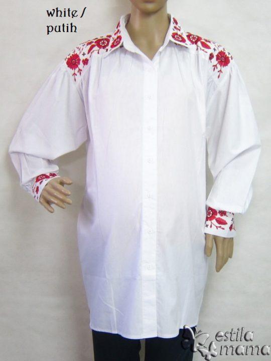 M25228 gb1 baju hamil lgn pjg putih