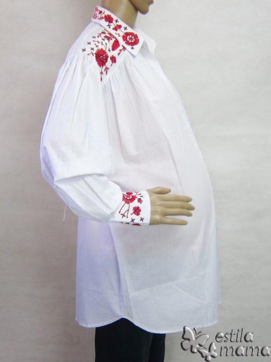 M25228 gb2 baju hamil lgn pjg putih