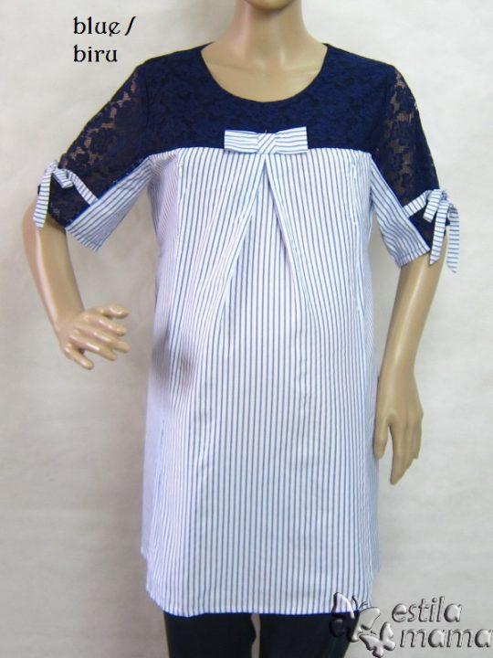R24153 gb1 baju hamil menyusui lgn pdk biru