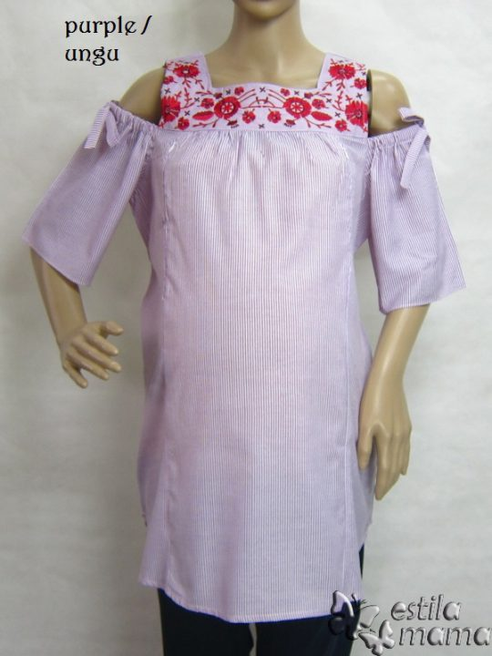 R24154 gb6 baju hamil menyusui lgn pdk ungu