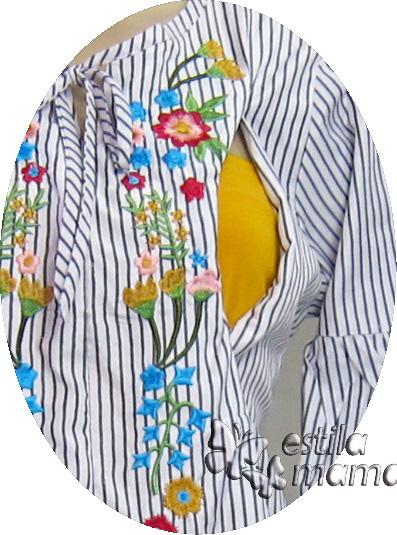 R25151 gb2 baju hamil menyusui lgn pjg hitam