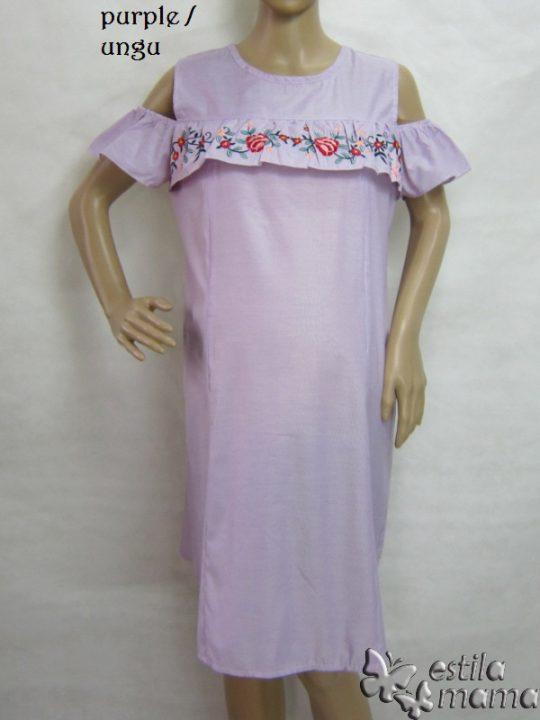 R34196 gb7 dress hamil menyusui lgn pdk ungu