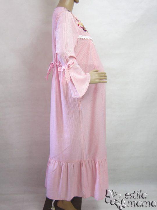R3563 gb3 gamis hamil menyusui lgn pjg pink