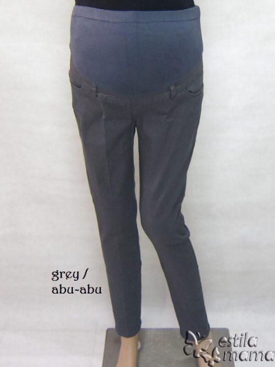 M7792 gb4 celana hamil pjg abu tua
