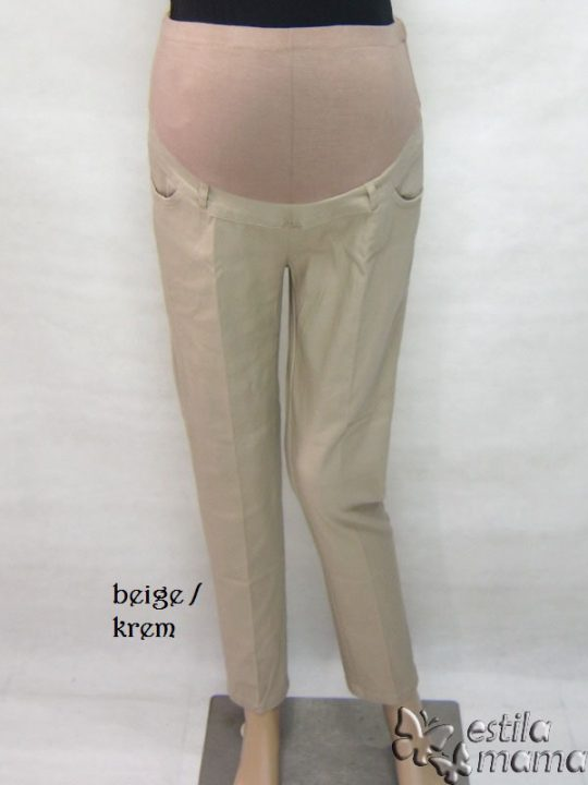 M7792 gb5 celana hamil pjg krem