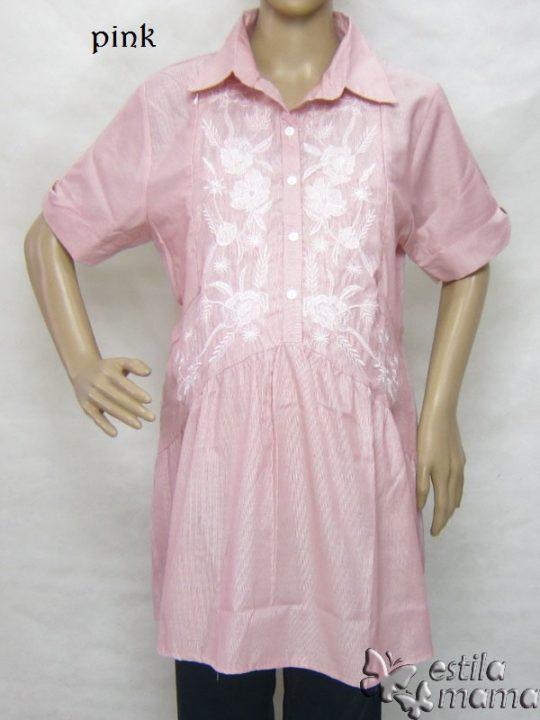 R24160 gb1 baju hamil menyusui lgn pdk pink