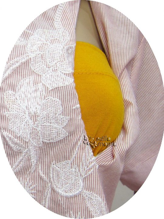 R24160 gb2 baju hamil menyusui lgn pdk pink