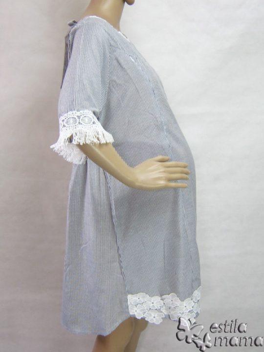 R34210 gb3 dress hamil menyusui lgn pdk abu-abu