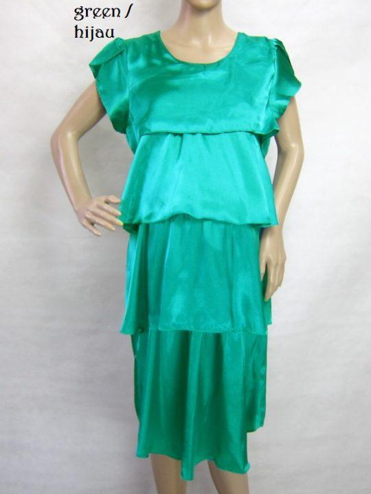 R3488 gb1 dress hamil menyusui lgn pdk hijau