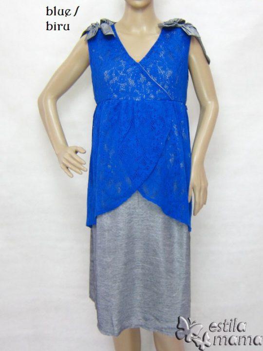 M3325 gb1 dress hamil tnp lgn biru
