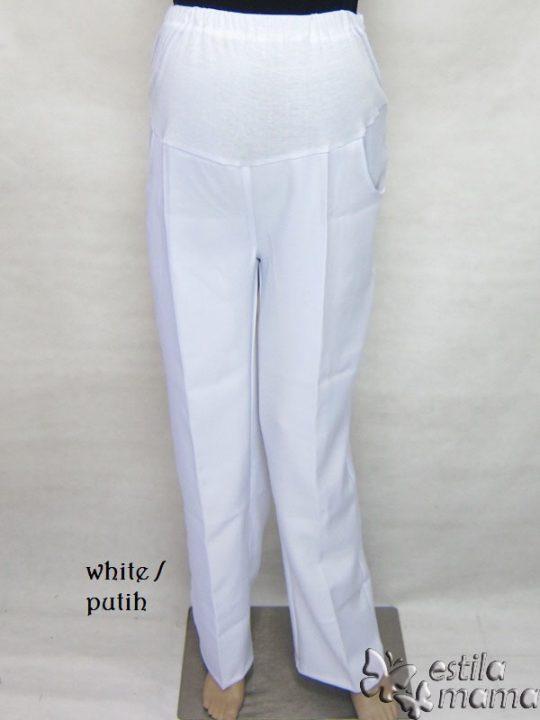 M7776 gb celana hamil pjg putih