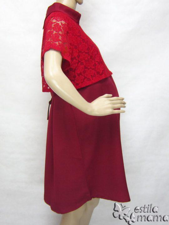R34167 gb3 dress hamil menyusui lgn pdk marun