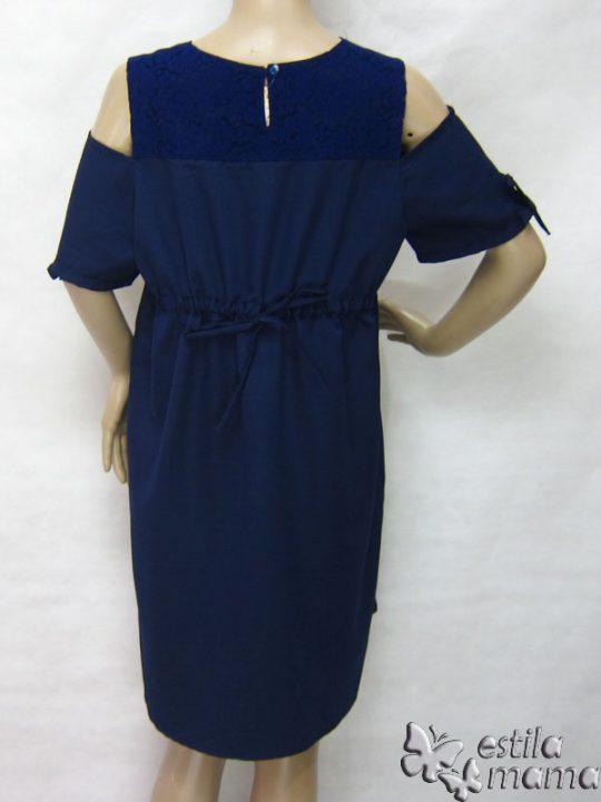 R34218 gb4 dress hamil menyusui lgn pdk biru tua