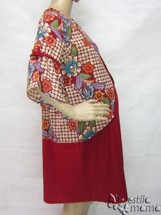 R34219 gb3 dress hamil menyusui lgn pdk marun