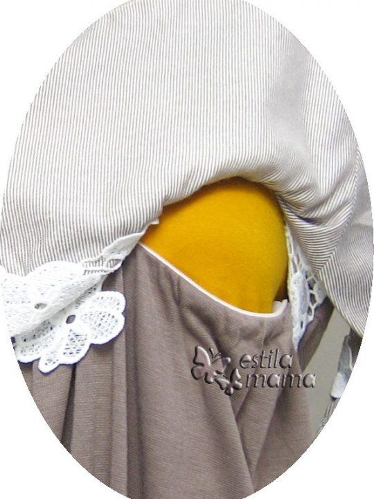 R34222 gb2 dress hamil menyusui lgn pdk moka
