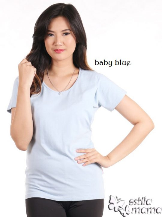 R0404 baby blue gb1 kaos menyusui lgn pdk