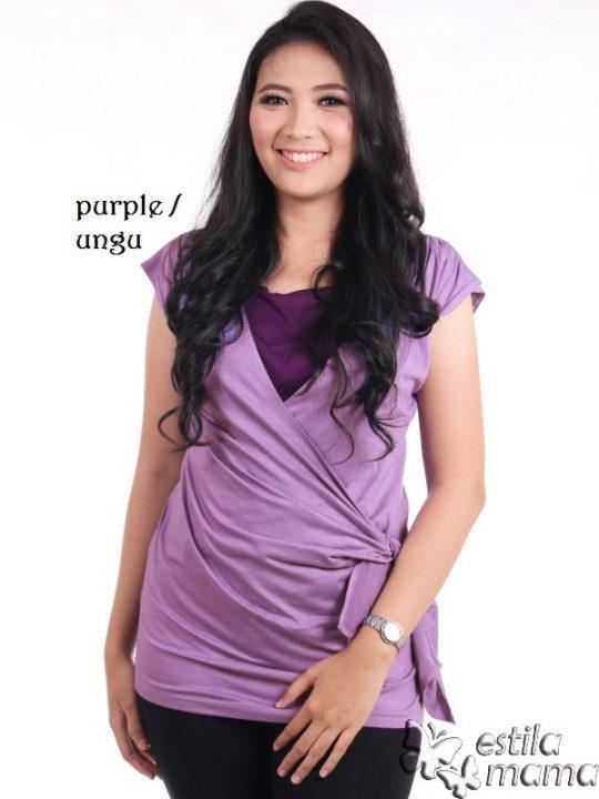 R1304 ungu gb1b baju hamil menyusui tnp lgn