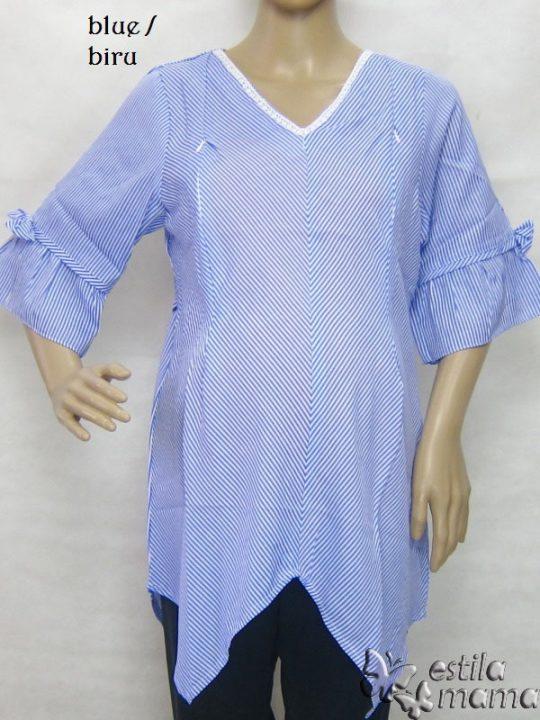 R24164 gb1 baju hamil menyusui lgn pdk biru
