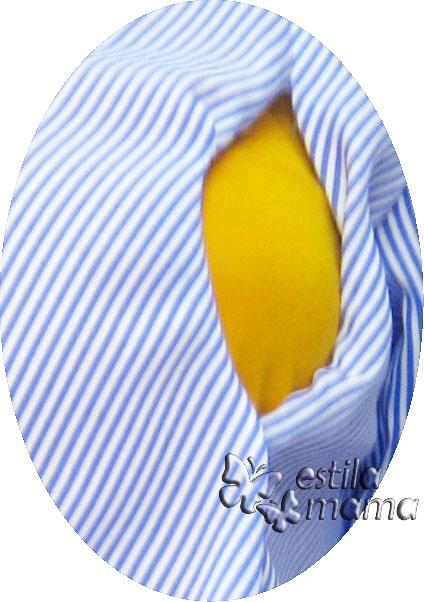 R24164 gb2 baju hamil menyusui lgn pdk biru