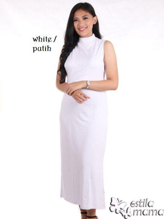 R0335K putih gb1 manset gamis menyusui tnp lgn