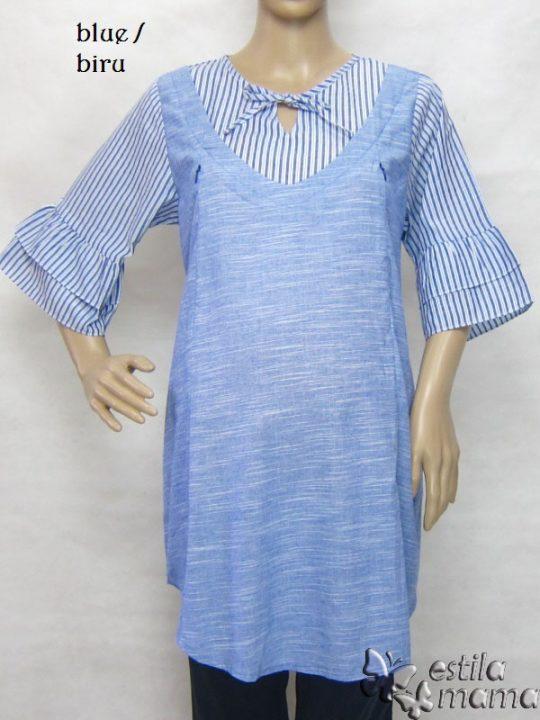 R24168 gb1 baju hamil menyusui lgn pdk biru