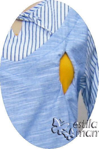 R24168 gb2 baju hamil menyusui lgn pdk biru