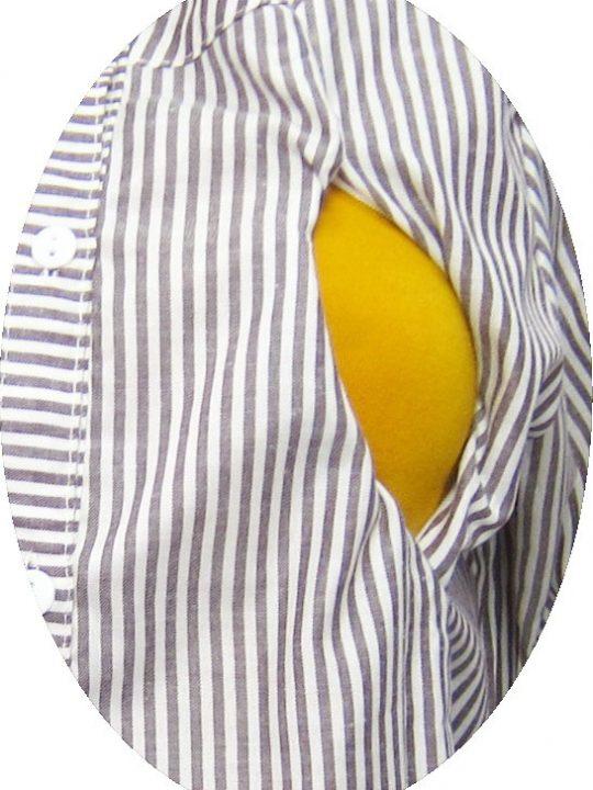 R25161 gb2b baju hamil menyusui lgn pjg salur coklat