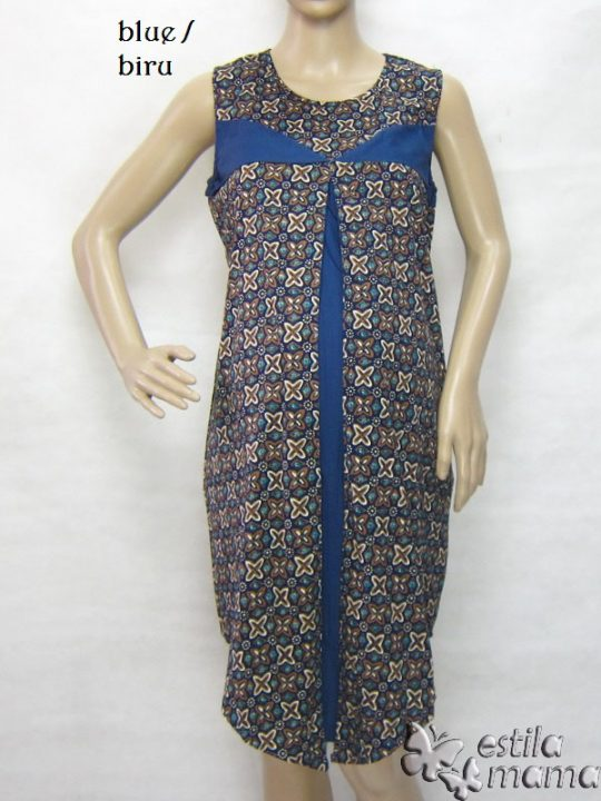 R3319 gb6 dress hamil menyusui tnp lgn biru