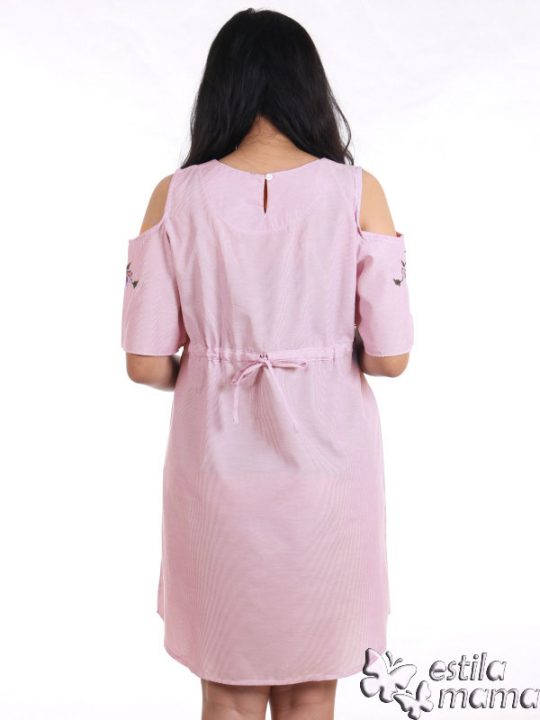 R34227 gb4 dress hamil menyusui lgn pdk salur ungu