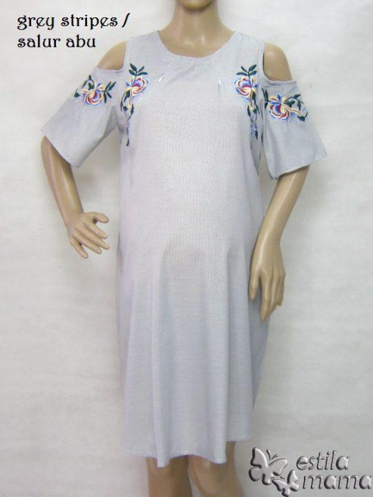 R34227 gb6 dress hamil menyusui lgn pdk salur abu