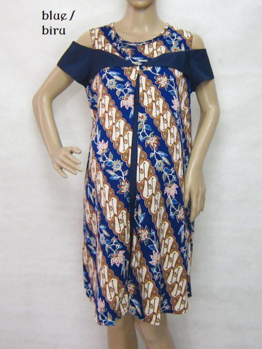 R34228 gb8 dress hamil menyusui lgn pdk biru