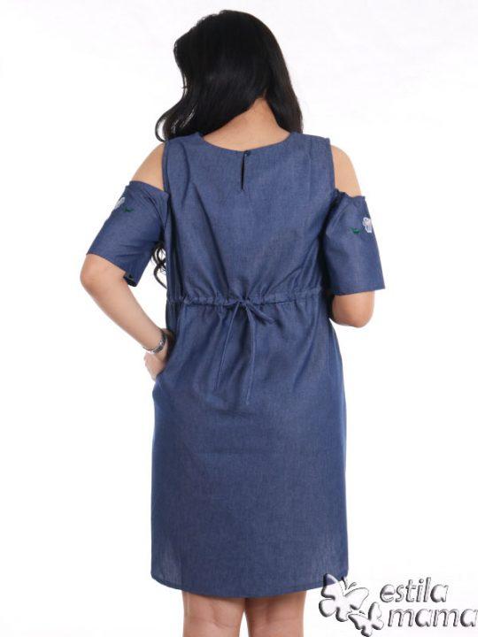 R34229 gb4 dress hamil menyusui lgn pdk biru