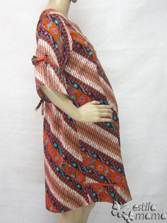 R34235 gb3 dress hamil menyusui lgn pdk jingga