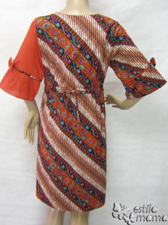 R34235 gb4 dress hamil menyusui lgn pdk jingga