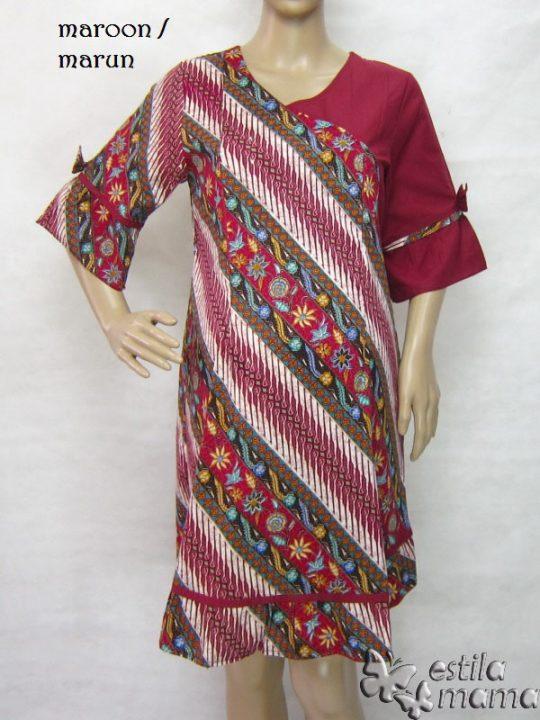 R34235 gb6 dress hamil menyusui lgn pdk marun